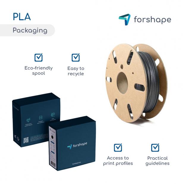 Pack PLA Noir X 12 bobines Forshape - 1.75mm - 750g