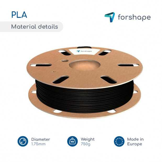 Pack PLA Noir X 12 bobines Forshape - 2.85mm - 750g