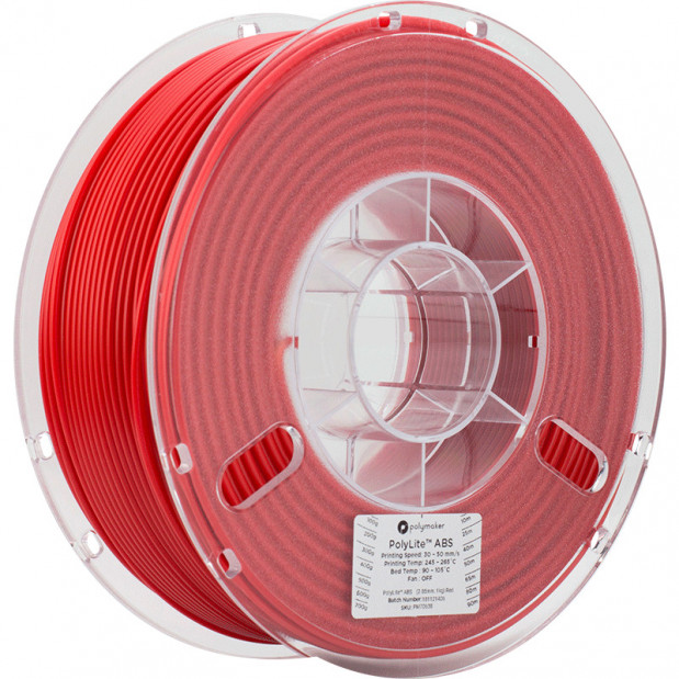 PolyLite ABS Rouge - 2.85mm - 1 kg