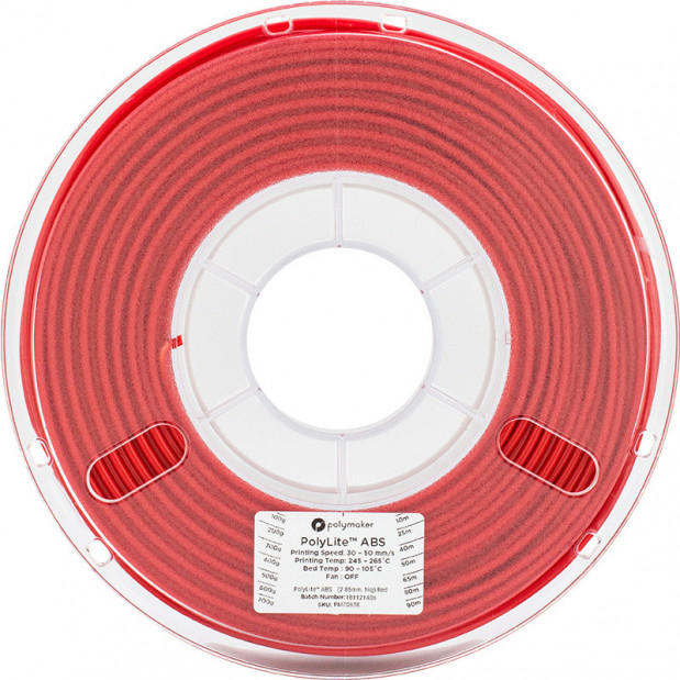 PolyLite ABS Rouge - 2.85mm - 1 kg (2)